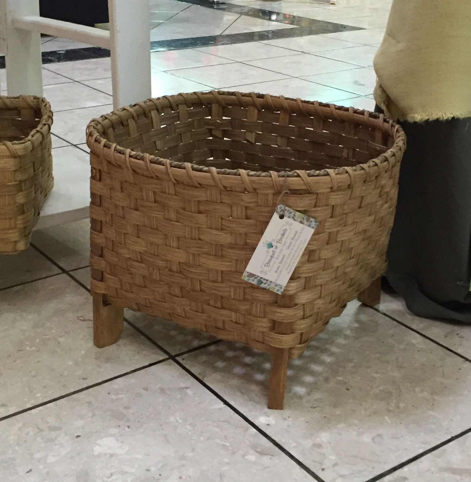This Basket Was Originally Made For Drying Wool. The Legs Keep The Basket  Off The Ground, And The Bottom Of The Basket Is Woven With An Open Weave To  Allow ...